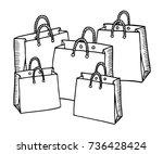 hand drawn cartoon style... | Shutterstock .eps vector #736428424