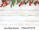 christmas theme background with ... | Shutterstock . vector #736437379