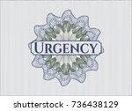 blue and green rosette or money ... | Shutterstock .eps vector #736438129