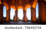 arches of magnificent palace of ... | Shutterstock . vector #736452724