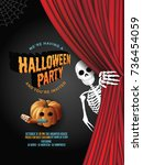 halloween party invitation... | Shutterstock .eps vector #736454059
