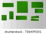 set of road signs isolated on... | Shutterstock .eps vector #736459201