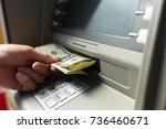 atm. | Shutterstock . vector #736460671
