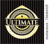ultimate gold badge | Shutterstock .eps vector #736464229