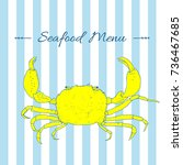 Seafood. Hand Drawn Sketch Of...