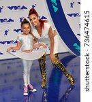 """Small photo of LOS ANGELES, CA - August 27, 2017: Farrah Abraham & Sophia Abraham at the 2017 MTV Video Music Awards at The """"Fabulous"""" Forum"""