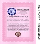 pink formal invitation. beauty...