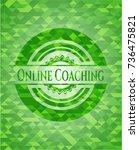 online coaching green emblem...