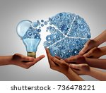group business ideas investing... | Shutterstock . vector #736478221