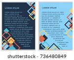 bright vector template with...   Shutterstock .eps vector #736480849