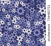 seamless pattern. snowflakes... | Shutterstock .eps vector #736482721