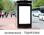 bus shelter advertising. blank... | Shutterstock . vector #736491064