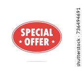 special offer label vector | Shutterstock .eps vector #736494691