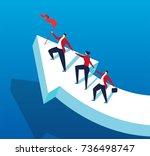 the men and women go hand in... | Shutterstock .eps vector #736498747