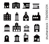 buildings  icons set on white... | Shutterstock . vector #736500154