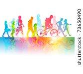 various modern people    vector ... | Shutterstock .eps vector #73650490