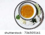 rice vermicelli with thai curry ...   Shutterstock . vector #736505161