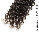 black curly human hair weave... | Shutterstock . vector #736512991