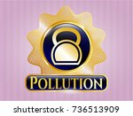 gold shiny badge with... | Shutterstock .eps vector #736513909
