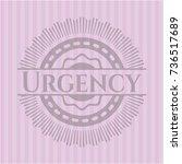 urgency pink emblem. vintage. | Shutterstock .eps vector #736517689