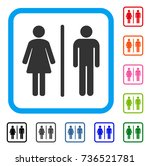 wc icon. flat gray pictogram...   Shutterstock .eps vector #736521781