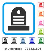 tombstone icon. flat gray... | Shutterstock .eps vector #736521805