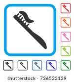tooth brush icon. flat grey... | Shutterstock .eps vector #736522129