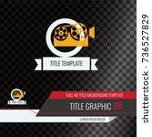 video headline title template.... | Shutterstock .eps vector #736527829
