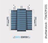 mainframe service concept... | Shutterstock .eps vector #736529101