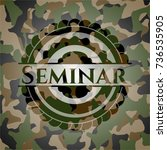 seminar on camouflage pattern | Shutterstock .eps vector #736535905