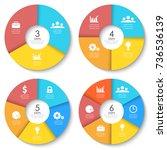 vector round infographics.... | Shutterstock .eps vector #736536139