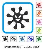evil bacteria icon. flat grey...   Shutterstock .eps vector #736536565