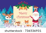 christmas greeting card with... | Shutterstock .eps vector #736536931