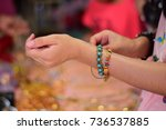 women's jewelry | Shutterstock . vector #736537885