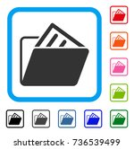document folder icon. flat gray ... | Shutterstock .eps vector #736539499