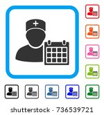 doctor appointment icon. flat... | Shutterstock .eps vector #736539721