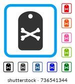 death tag icon. flat gray...