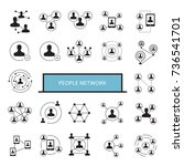 people network  people... | Shutterstock .eps vector #736541701