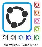 collaboration icon. flat grey...