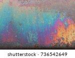 rusted metal on junkyard...   Shutterstock . vector #736542649
