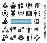 business management icons | Shutterstock .eps vector #736542655