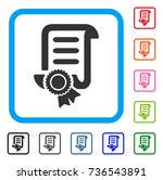 certified scroll document icon. ... | Shutterstock .eps vector #736543891