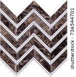 seamless brown marble mosaic... | Shutterstock . vector #736544701