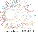 abstract background for... | Shutterstock .eps vector #736550641