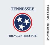 tennessee flag t shirt design... | Shutterstock .eps vector #736552561