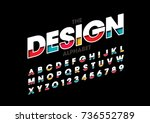 vector of modern layered font... | Shutterstock .eps vector #736552789