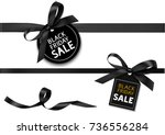 decorative horizontal black... | Shutterstock .eps vector #736556284