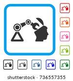 open head surgery manipulator... | Shutterstock .eps vector #736557355