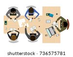 business process and team work... | Shutterstock .eps vector #736575781