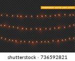 christmas lights isolated... | Shutterstock .eps vector #736592821